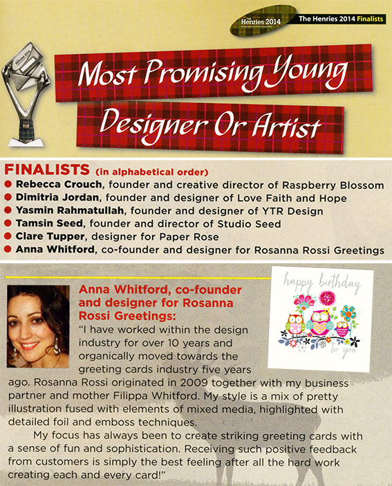 THE HENRIES FINALISTS 1